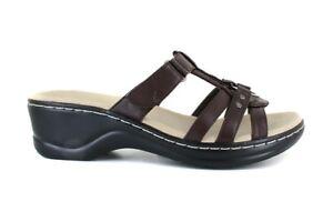 womens-shoes-size-12-brown-slides-sandals-adjustable