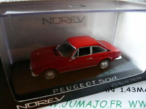 voiture-1-43-NOREV-PEUGEOT-504-coupe-rouge-MIB