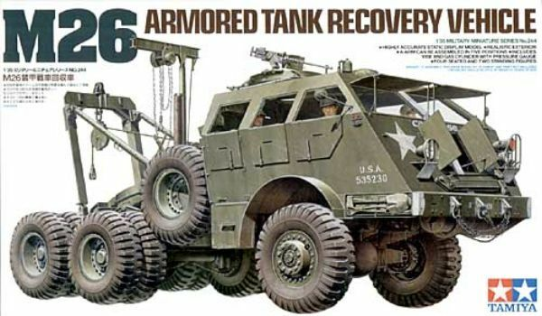 KIT TAMIYA 1 35 M26 ARMORED ARMORED ARMORED TANK RECOVERY VEHICLE 35244 f05681