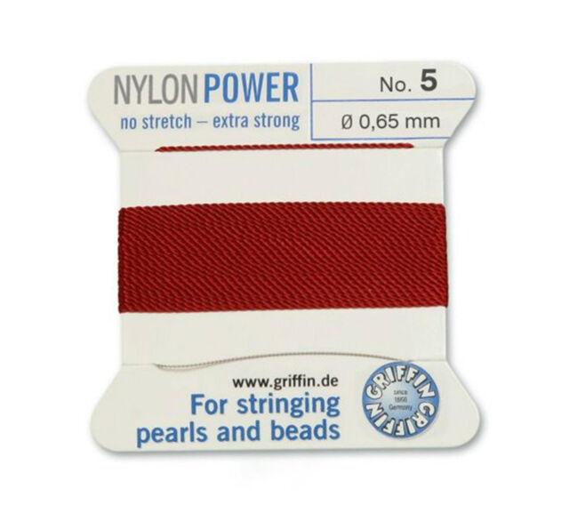 AMETHYST PURPLE NYLON POWER SILKY THREAD 0.65mm STRINGING PEARLS BEADS GRIFFIN 5