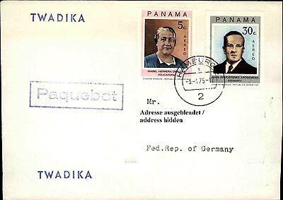 QualitäT In Honig Schiffspost Schiff Twadika Paquebot Stempel Brief Mit Panama Briefmarken 1975 Ausgezeichnete