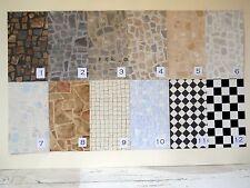 Fabulous Faux Stone, Brick, Tile, Vinyl Floors for Diorama Rooms, Many Varieties