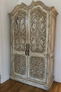 Details About Antique French Armoire Wardrobe Linen Closet