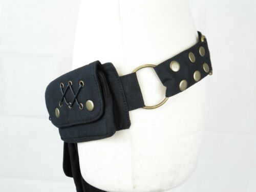 Fair Trade Made in India Double Pocket with Lace Psy Trance Festival Pocket Belt