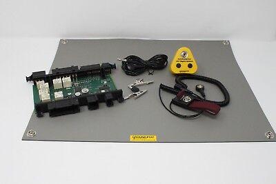 Anti-statico groundstat ™ ESD tabella//Tappetino Bench KIT USA//Asia Plug 500 x 400 mm Grigio