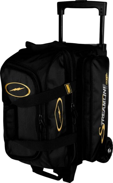 Storm Streamline 2 Ball Roller Bowling Bag with Wheels Color Black NEW d4a7fd2cbfe51