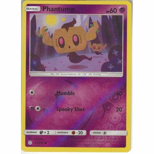 93//236 PhantumpCommon Reverse Holo CardSM12 Cosmic EclipsePokemon TCG
