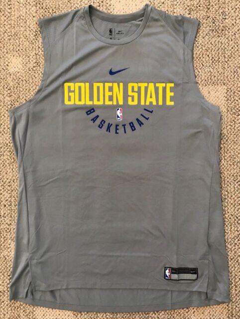 Nike Dry Men s XLT TALL Tank Top Shirt Jersey NBA Golden State Warriors Gray ada8fd324