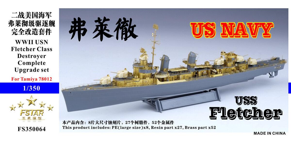 Five stjärna 1  350 FS350064 USS Destroyer Fletcher för Tamiya