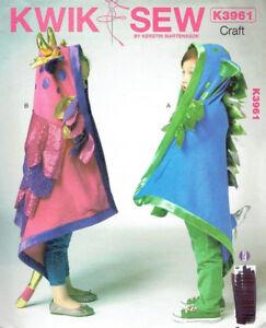 Dragon-Fairy-Hood-Play-Blankets-Kwik-Sew-3961-Sewing-Pattern
