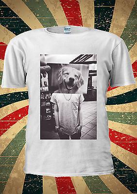 Funny Dog Face Guy Be Happy Tumblr Fashion T Shirt Men Women Unisex 1108
