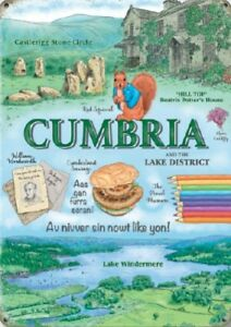 CUMBRIA-LAKE-DISTRICT-LAKE-WINDERMERE-ENGLAND-HOLIDAY-METAL-PLAQUE-TIN-SIGN-1306