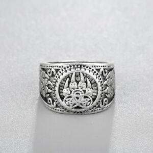 Men Rings Fashion Vintage Jewelry Bear Paw Slavic Ring Bear Paw