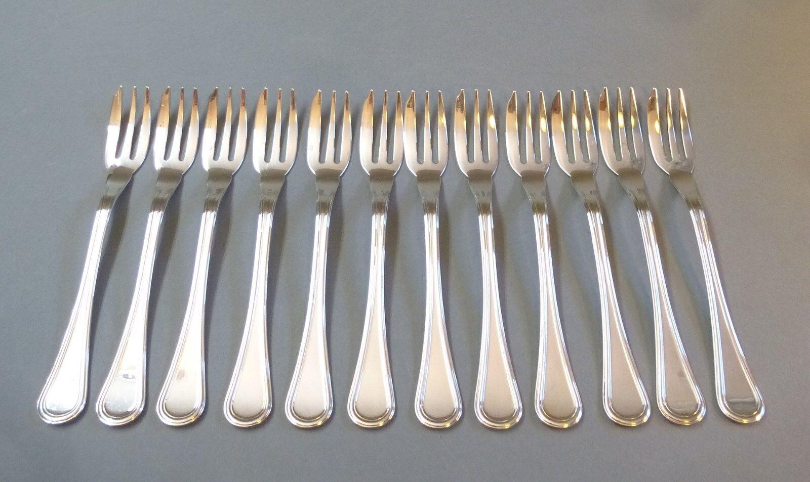 12 Gateau fourchettes dessert Fourchette obstgabel Gateau fourchette Oxford 800er Argent 12 Pièces