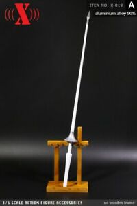 """12/"""" The Crusaders Soldier Ride Long Gun Figure 1:6 Knight Jousting Lance Model"""
