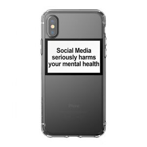 cheap for discount cd33c 5535b Details about Iphone Case Social Media Seriously Harms Your Mental Health  Silicone Phone Case