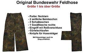 Flecktarnhose Outdoor Hose Gr Original BW Bundeswehr Hose 1-20 Feldhose
