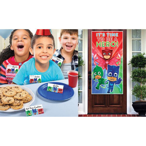 PJ MASKS PARTY WELCOMING KIT ~ Birthday Supplies Decoration Name Tags Place Card
