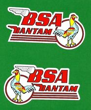2 X BSA BANTAM WING Vinyl DECAL STICKER NORTON TRIUMPH MOTORCYCLE WORKSHOP ARIEL