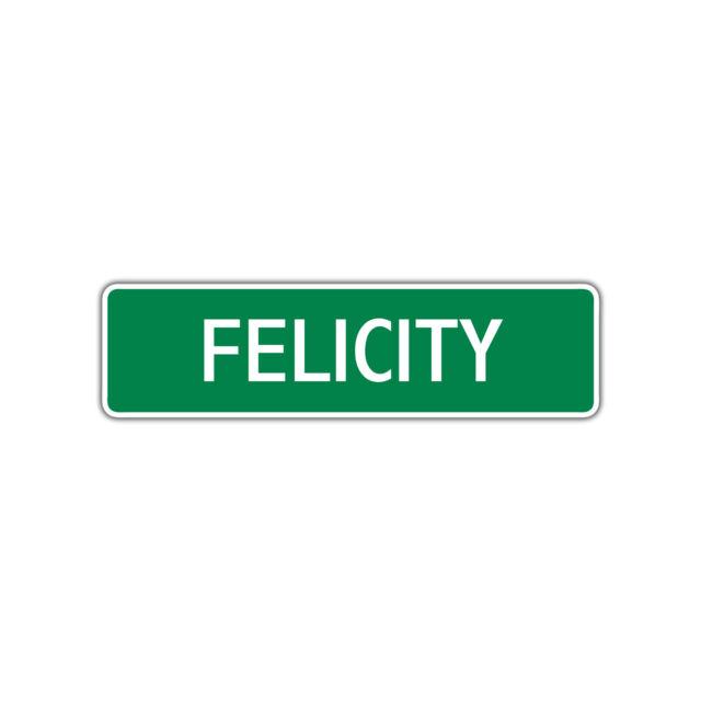 Felicity Girls Name Letter Printed Label Art Decor Novelty ...