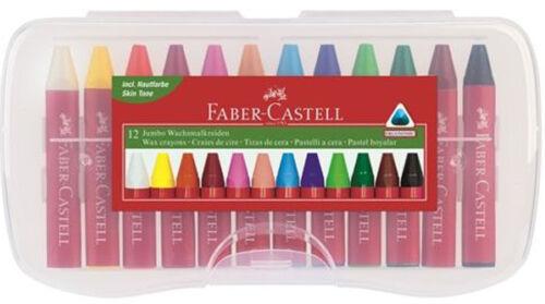 Wachsmalkreiden Faber-Castell 120011 Jumbo-Wachsmalkreide 12er Kunststoffetui