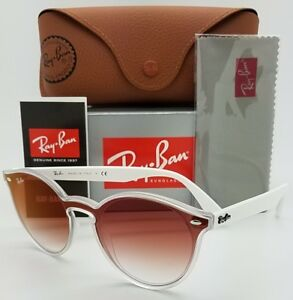 ee676961ab Image is loading NEW-Rayban-Blaze-Round-sunglasses-RB4380N-6357V0-White-