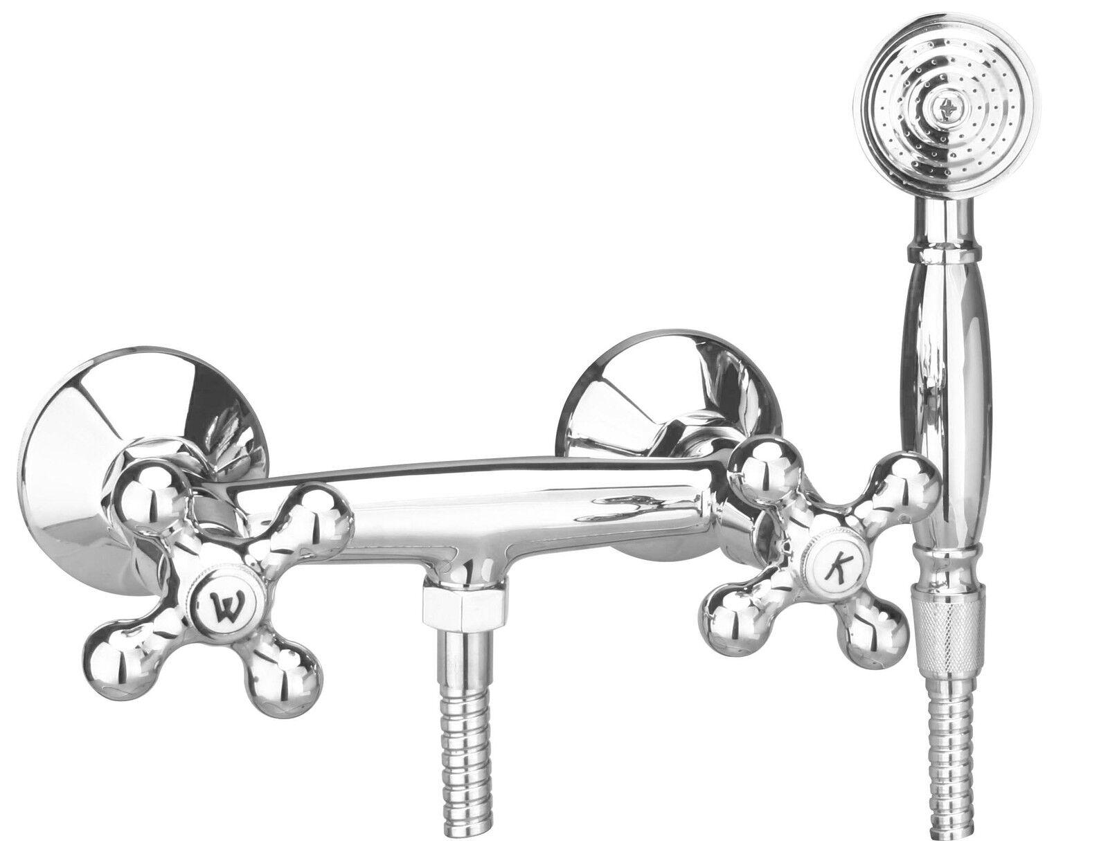 Duscharmatur Brausearmatur nostalgisch  Kreuzgriff Elk  chrom | Perfekt In Verarbeitung  | Vielfältiges neues Design  | Discount  | Bekannt für seine schöne Qualität