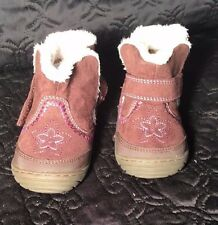 """Toddler Girl's Brown """"Arliss"""" Surprize by Stride Rite Fur Lined Boots Size 4"""