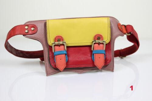 Upcycling Leder Gürteltasche Bauchtasche von soruka handgefertigt