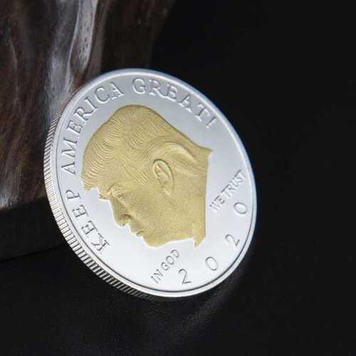 2020  Gold /& Silver Plated EAGLE Commemorative Coin President Donald Trump