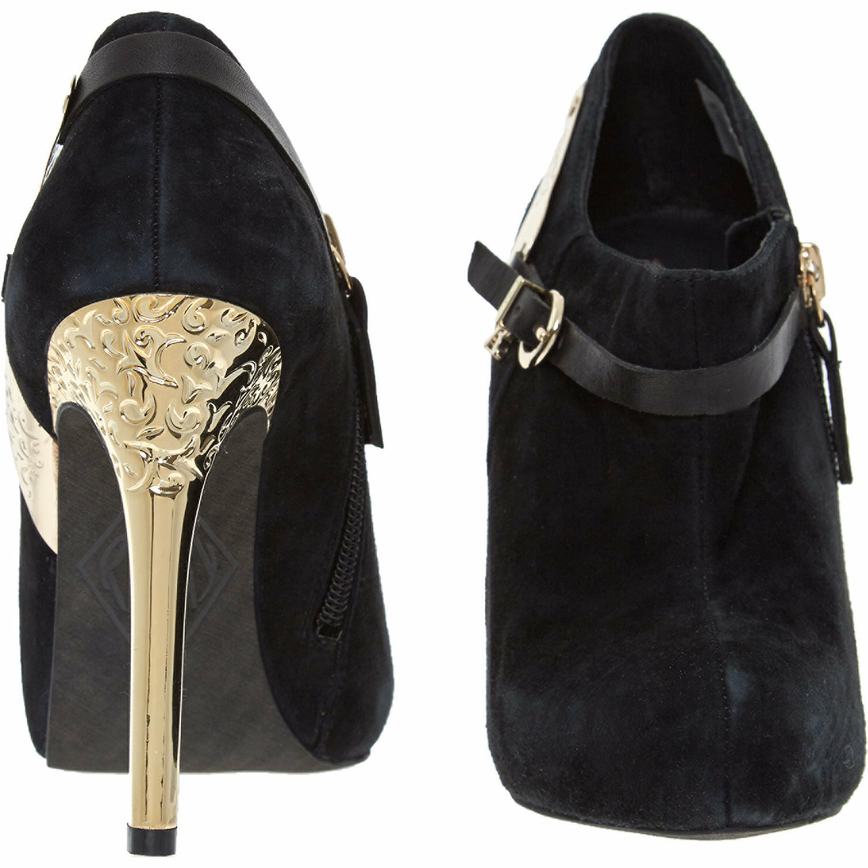 Replay Mujer Negro Gamuza Tacón Alto botas al al botas tobillo 600d5a