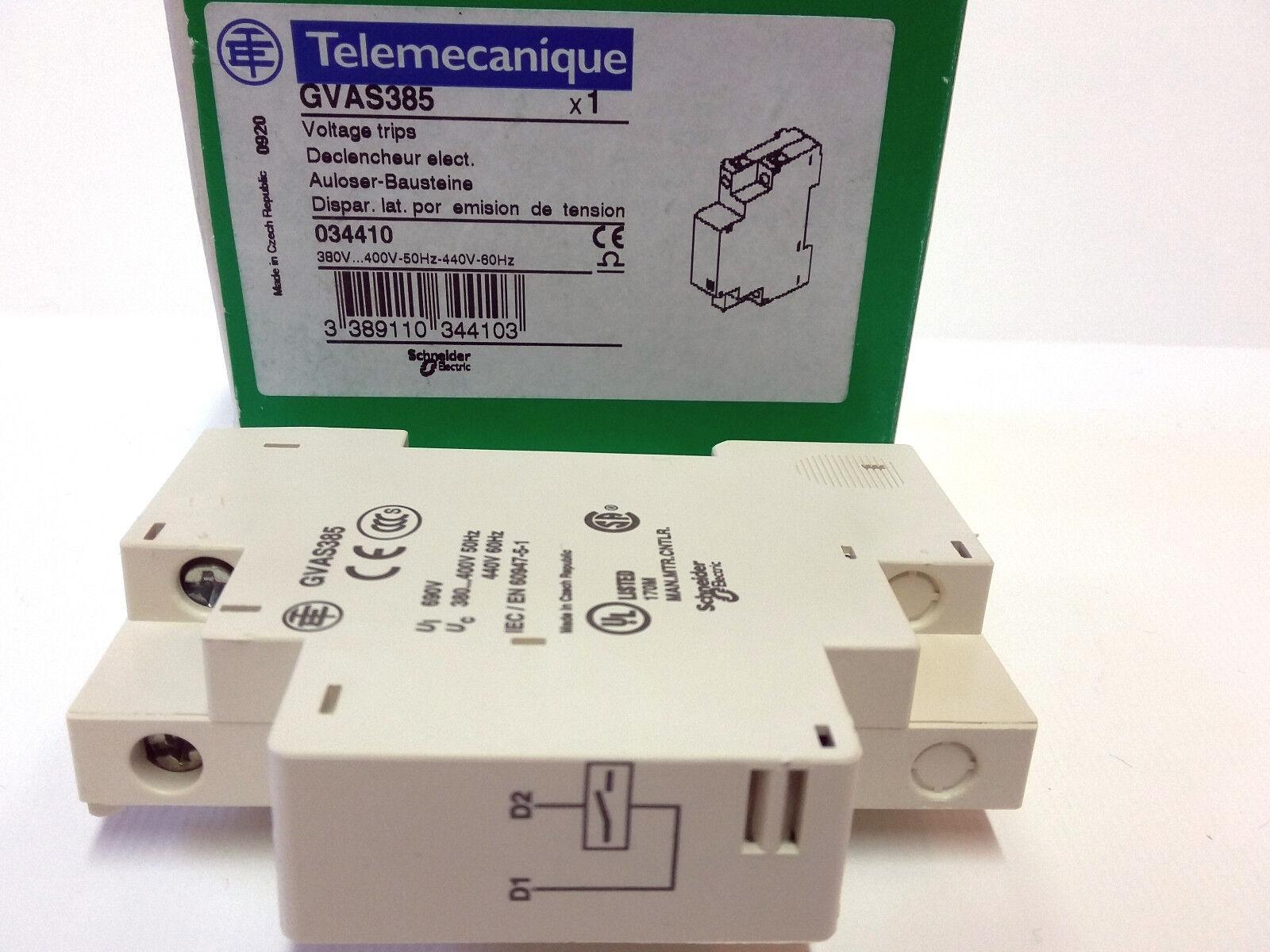 Telemecanique Schneider Electric GVAS385 Voltage Trip 380-400V//50Hz 440V//60Hz