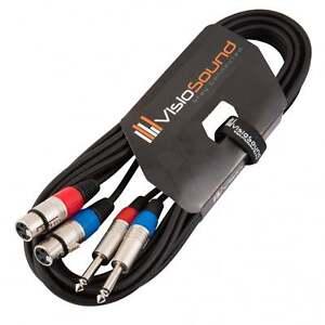 Câble double 2 x XLR femelle à 2 x jack mono 6,35mm / Câble patch signal 5m