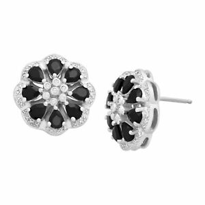 1-5-8-ct-Natural-Onyx-Flower-Studs-with-Diamonds-in-Sterling-Silver