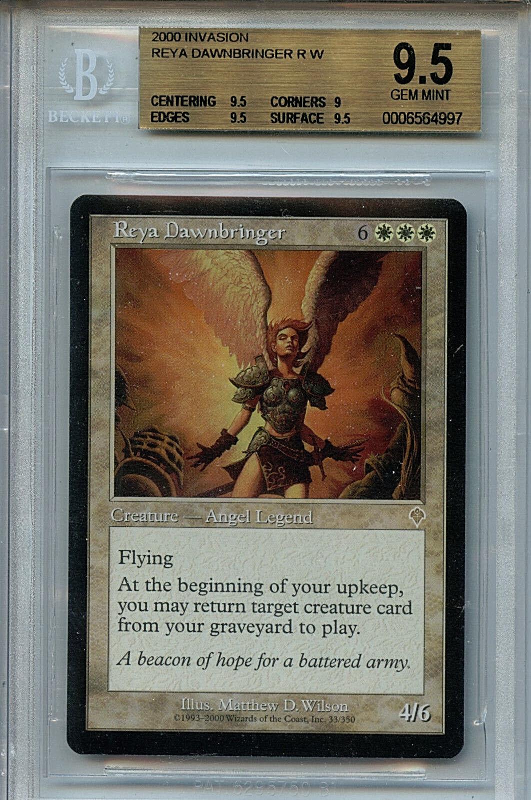 Mtg reya dawnbringer bgs 9,5 gem - invasion magische karte amricons 4997 c) zwischenergebnis...............................................