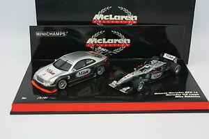 Minichamps-1-43-Coffret-F1-McLaren-MP4-16-et-Mercedes-CLK-Hakkinen