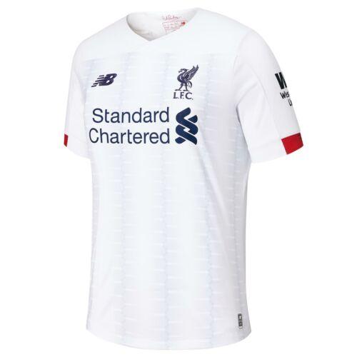 NEW BALANCE Bambini Ufficiale Liverpool FC AWAY FOOTBALL SHIRT JERSEY 2019-20
