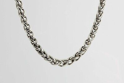925 Sterling Silver 7mm Polished Anchor Link Chain Necklace 7-24