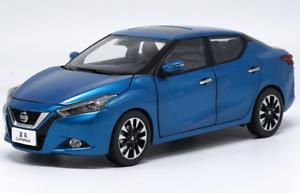 1 18 Nissan original manufacturer ,bluee NISSAN LANNIAO alloy car model 2015