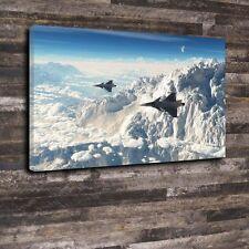 "SAAB 39 Gripen Jet Printed Canvas A1.30""x20""Deep 30mm Frame Aircraft Airplane v2"