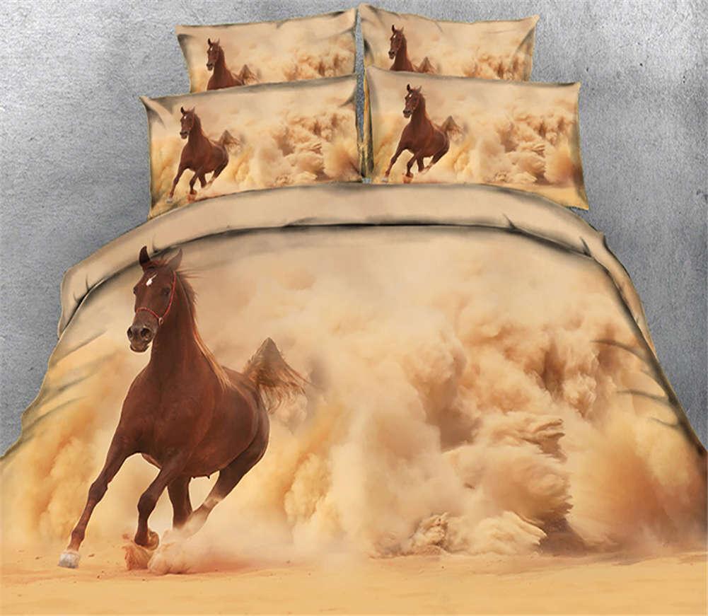 A Handsome Horse 3D Printing Duvet Quilt Doona Covers Pillow Case Bedding Sets