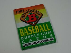 1991-Bowman-American-Baseball-Bubblegum-Trading-Cards-Sealed-Pack-of-14-Cards