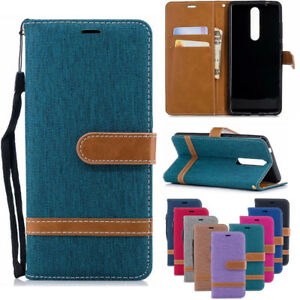 For-Nokia-2-1-3-1-5-1-2018-Luxury-Wallet-Card-Slot-Leather-Flip-Denim-Case-Cover