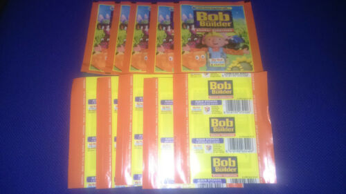 10 UNOPENED STICKER PACKS BOB THE BUILDER PANINI