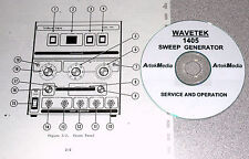 Wavetek 1405 Sweep Genrator Operating Amp Service Manual