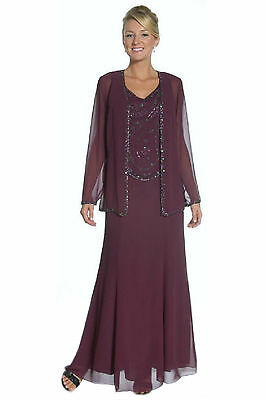 Formal Modest Mother Of The Bride Groom Dress Jacket Chiffon Plus Size Classic