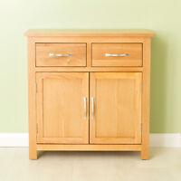 Carne Oak Mini Sideboard / Oak Cupboard / Solid Oak Handcrafted Small Sideboard
