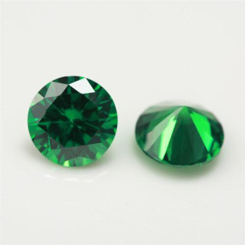 200 un 0.8 ~ 5.0mm Forma Redonda verde de piedra cz AAAAA Suelto Cubic Zirconia Piedra
