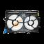 AUDI-Q3-2011-Ventilador-Del-Radiador-Soporte-Funda-de-enfriamiento-8K0121207A miniatura 1