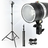 Photography Studio 2X160W Lighting Kit Strobe Photo Flash Light Stand Holder
